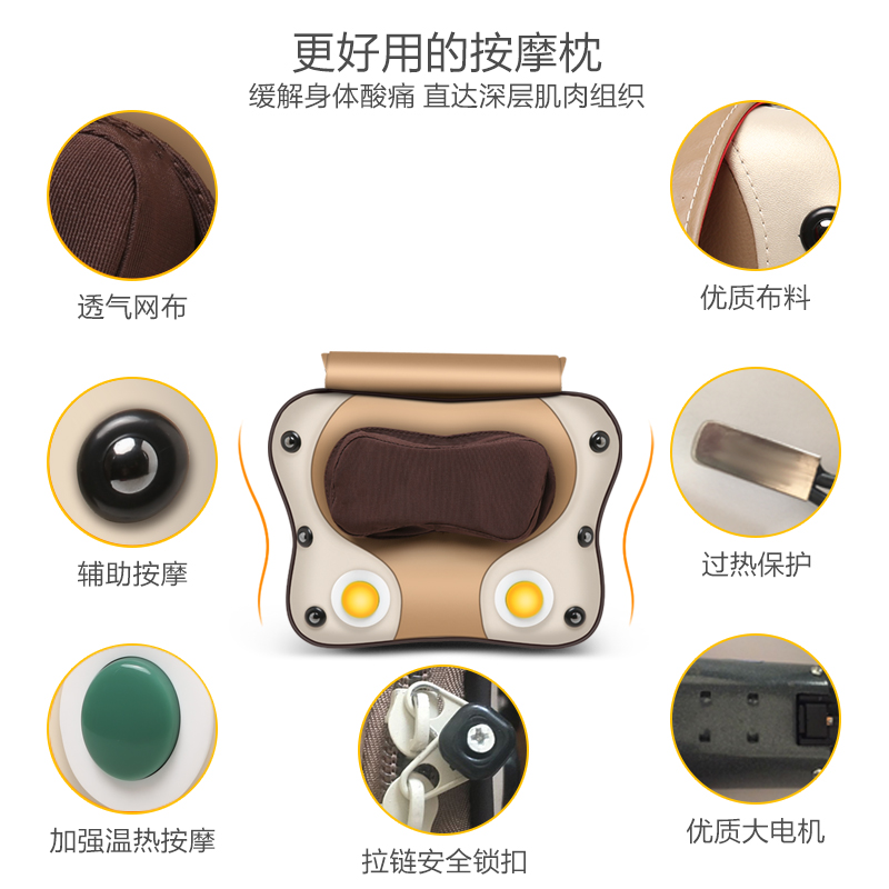 Cervical waist massager, lumbar neck physiotherapy pillow, multi-function office back waist cushion home