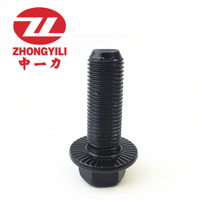 10.9 grade M12*1.5 flange face fine tooth bolt / six angle flange face screw /GB5787/M12*1.5*40