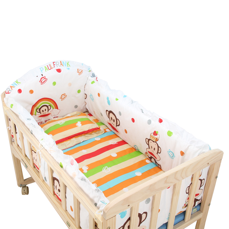 μπορεί να το ξύλο χωρίς μπογιά ξύλο μπορεί να πτυσσόμενο κρεβάτι παιδιού κουνουπιέρα τέσσερις εποχές γενικά βρεφικό κρεβάτι χωρίς θησαυρό μπογιά κρεβάτι