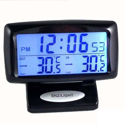 차 두 온도계 차량 카 디지털 디스플레이 전자 시계줄 야광 시계 자동차 전자 시계 내외