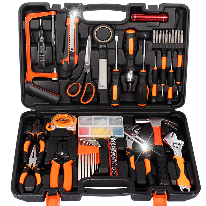 Home hardware toolbox, home repair combination kit, screwdriver, wrench wrench 24 sets