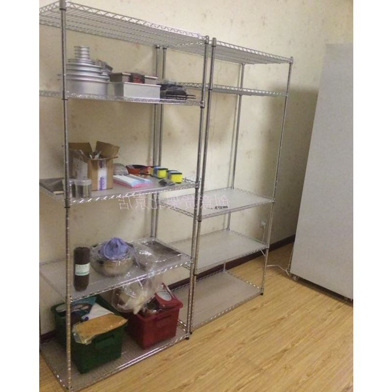 Customize the color of stainless steel kitchen shelf oven pot flower shelf balcony 5 metal storage rack custom