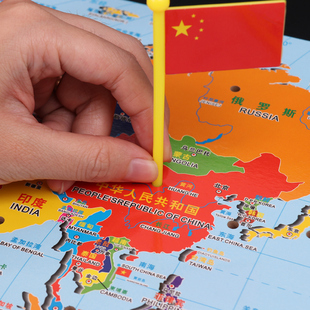 Montessori world map puzzle flags insert country flag card montessori world map puzzle flags insert country flag card montellisso early learning educational toys gumiabroncs Image collections