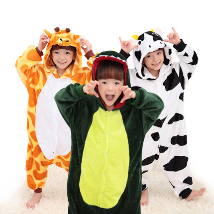 Adults in autumn and winter, cartoon Siamese pajamas, men and women powder pigs, black pigs, animals, home wear flannel