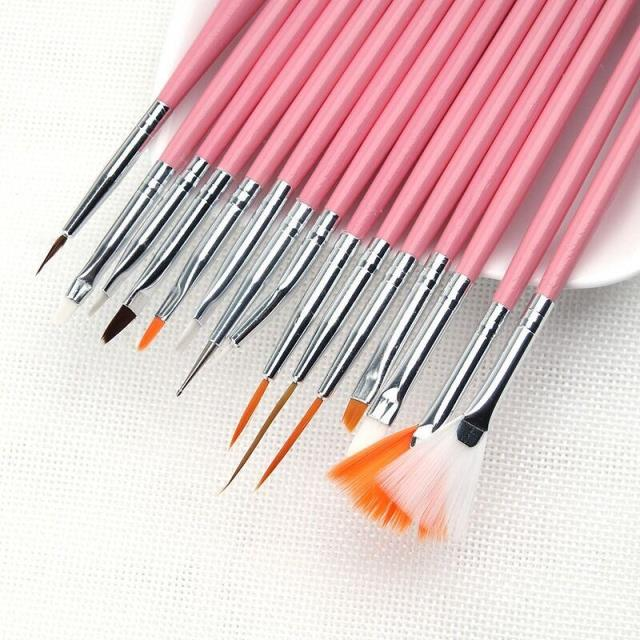 Nail tool, painting pen, beginner suit, DIY drawing brush, paint brush, 15 sets of carved pen