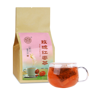德聚兴玫瑰红枣茶女人补气血山楂养生美容组合花茶包40袋泡茶正品