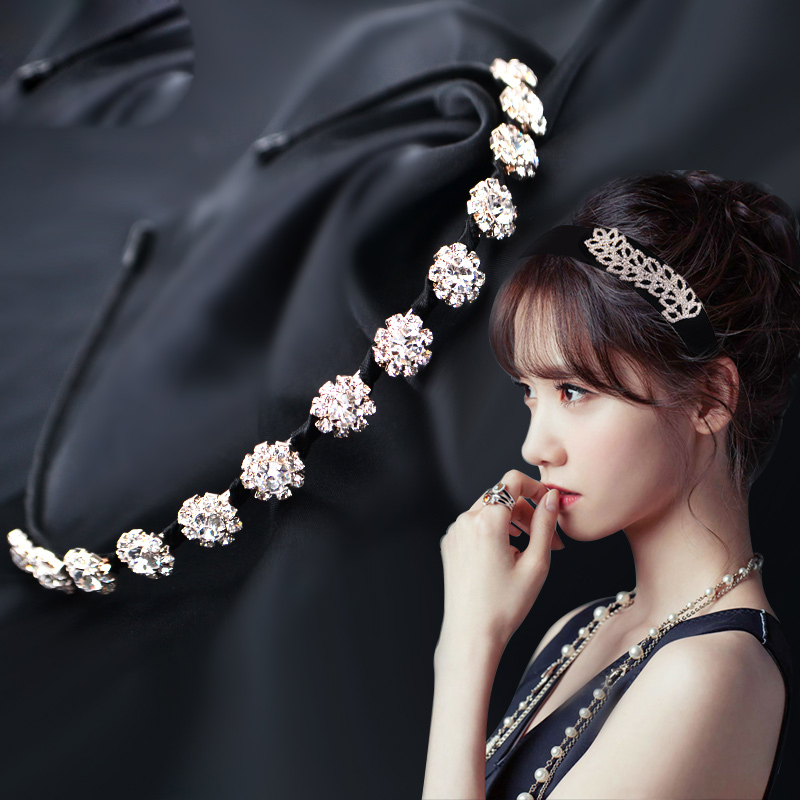 小さい女の子の88ヘアピンシンプル宽边頭箍ダイヤモンドティアラ細カチューシャ児童女児圧ヘアピンプリンセス