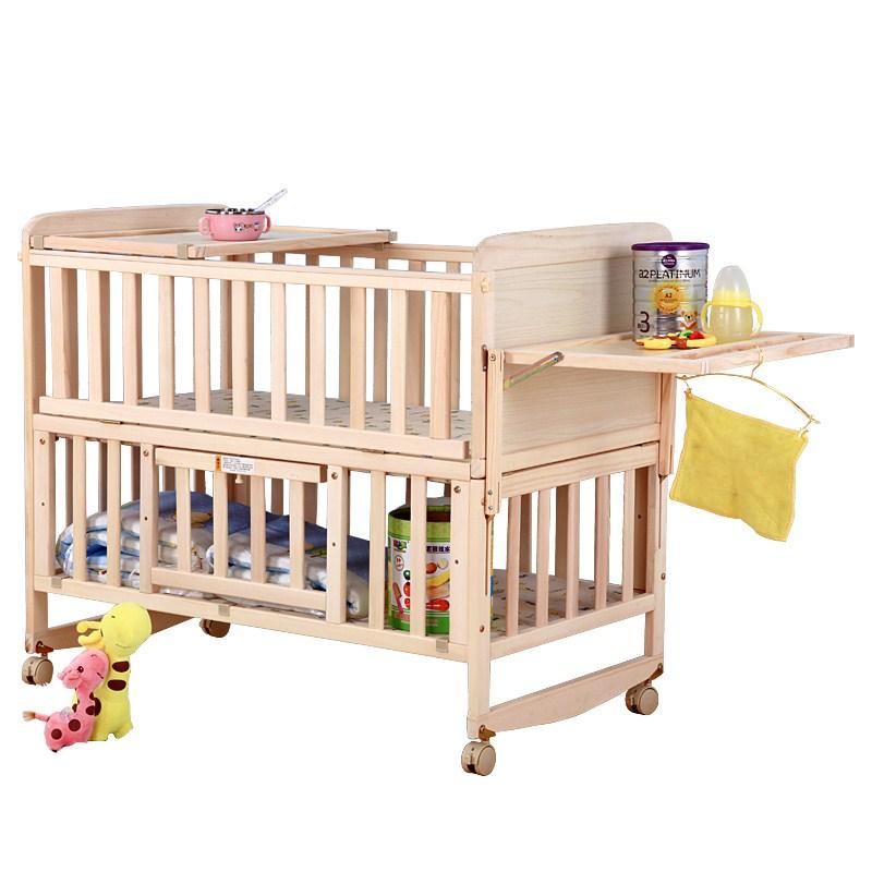 De nieuwe baby 's bed producten verkopen houten multifunctionele geen verf wieg... Bed in hoogte verstelbare bed nieuwe