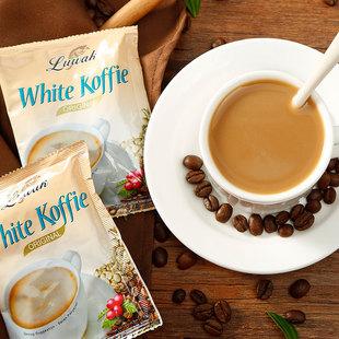 印尼原装进口猫屎白咖啡原味三合一速溶香浓提神露哇咖啡粉200g装