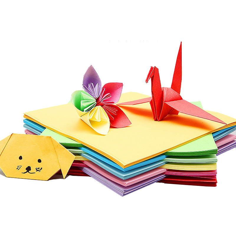 Handmade paper paper children color cardboard folding materials square origami origami rose a