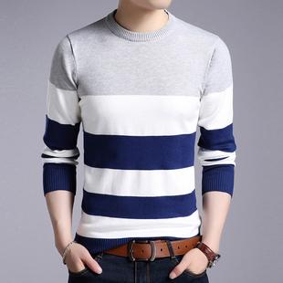 冬季男士毛衣韩版潮流2018年新款毛衣外套圆领加绒加厚针织衫线衣