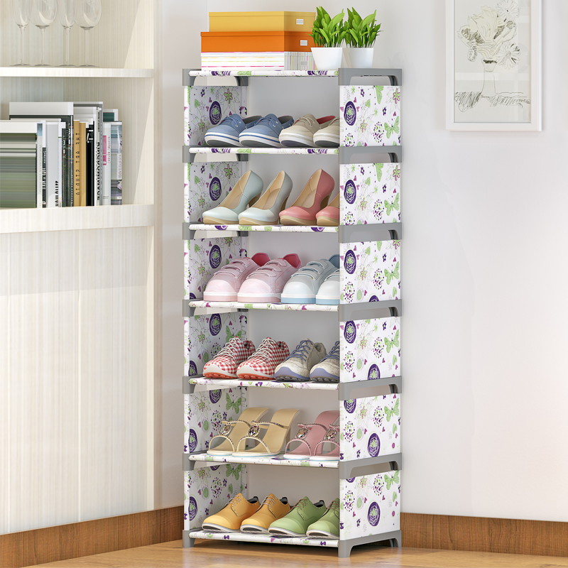 Simple shoe rack door economic domestic special offer multi family mini trumpet removable dormitory shoe narrow
