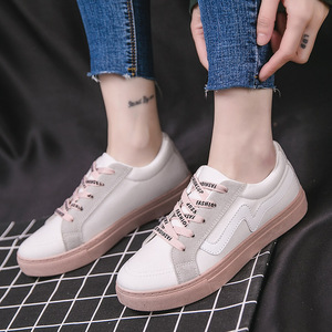 2018夏季新款韩版学生跑步板鞋透气休闲板鞋小白鞋女鞋57