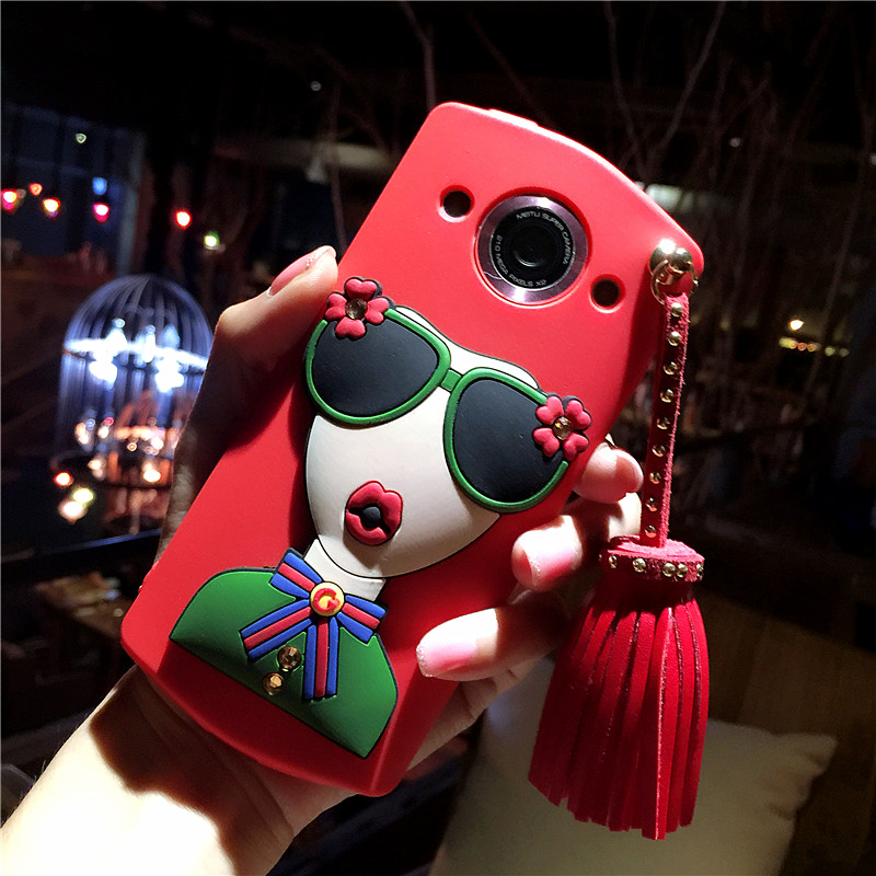 Mito T8 mobile phone shell M8/M6s mobile phone shell M4s creative personality cute cartoon silicone soft shell Han Guochao card