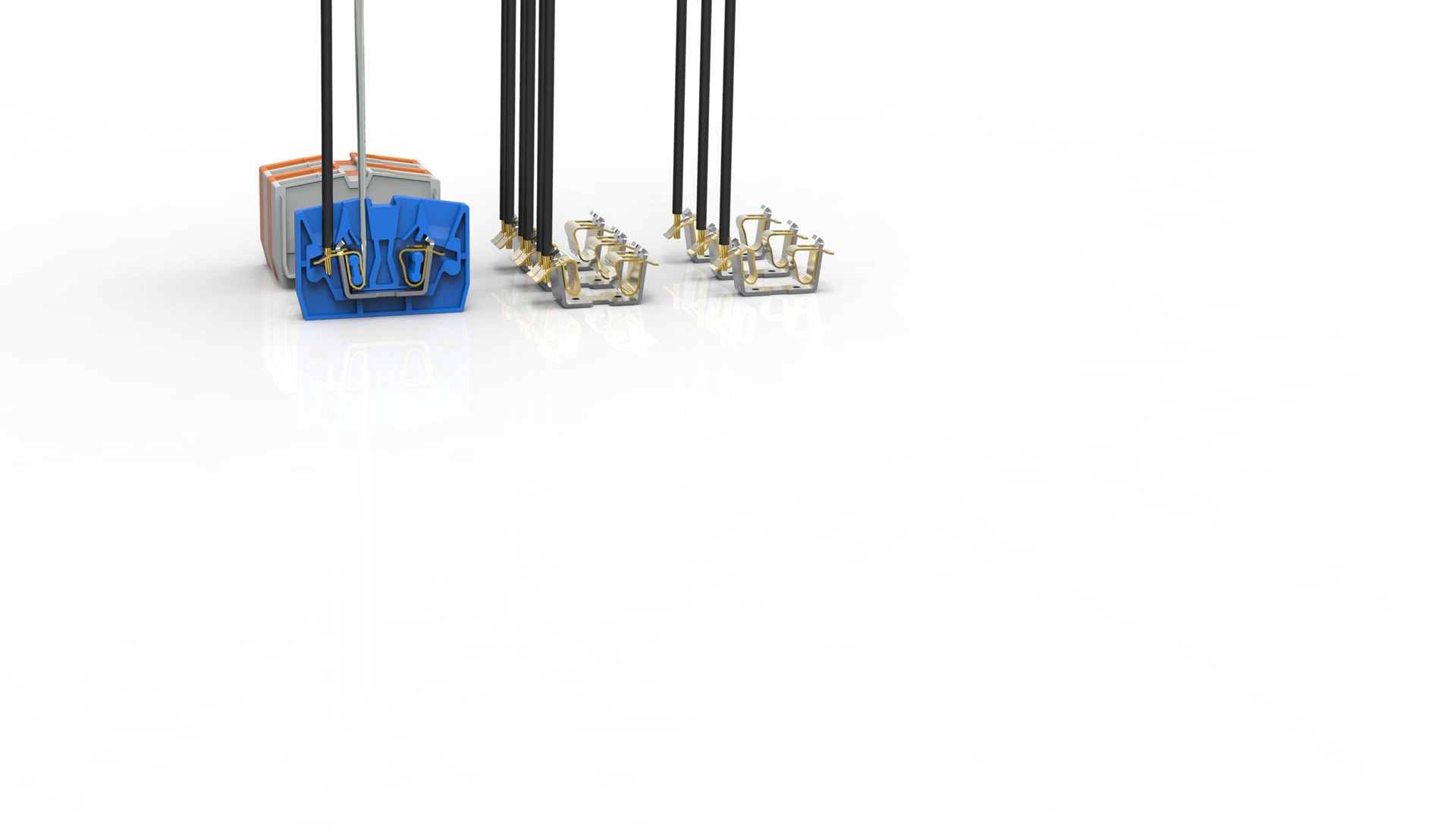 MST explosion-proof terminal spring connection type terminal line 1 in 1 out 2 in 2 out connection terminal