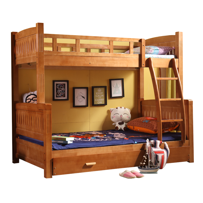 Solid wood bed bed bed mother child height bed boy girl bed simple modern child bed furniture for children