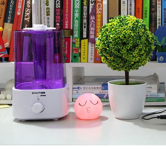 Air purifying moisture absorption filter humidifier, home silent large capacity bedroom air conditioning humidifier, mini air cleaner