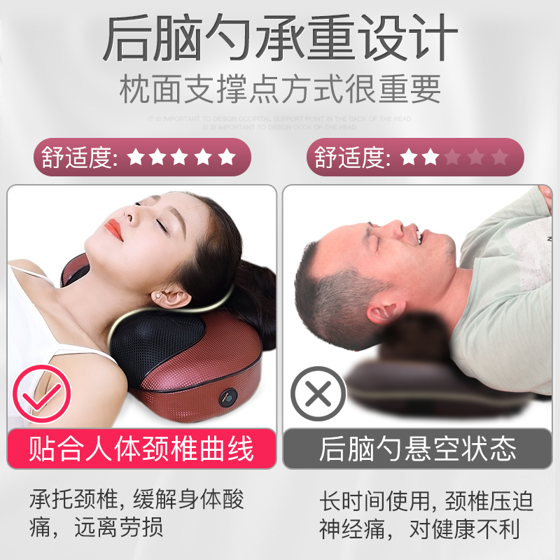 Wang Xuan multifunctional massage pillow cervical massage neck waist back cushion body electric household car