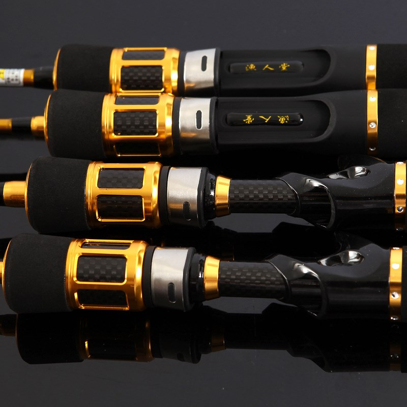 Carbon fishing rod with raft rod valve rod water drop raft rod package titanium alloy soft tail micro lead rafting rod