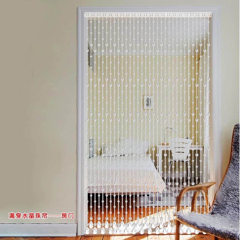 Het gordijn kralengordijn kristal - woonkamer, slaapkamer, badkamer. Kamer hangen die kralen ingang koord scherm