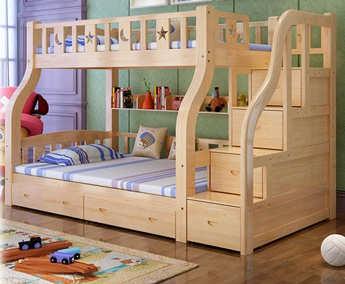 Low bed children bed bed double bed STRATONS mother boy girl bunk bed adult
