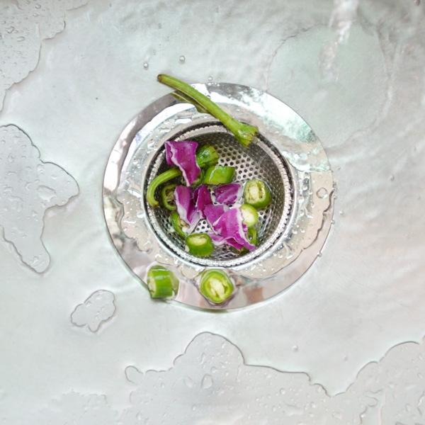 Filter - NET pool Küche. Filter waschbecken zum waschen von Gemüse - Filter für rückstände und entkommen.