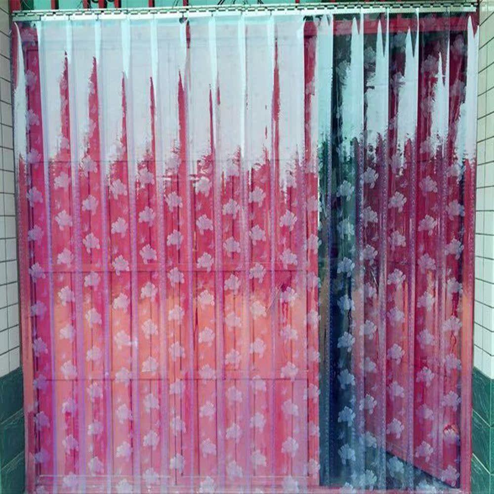 محلات البلاستيك بولي كلوريد الفينيل ستارة غرفة المعيشة فصل الصيف تعليق ستارة الحمام البلاستيكية المنزلية متجر الشتاء التقسيم الأمامي ستارة