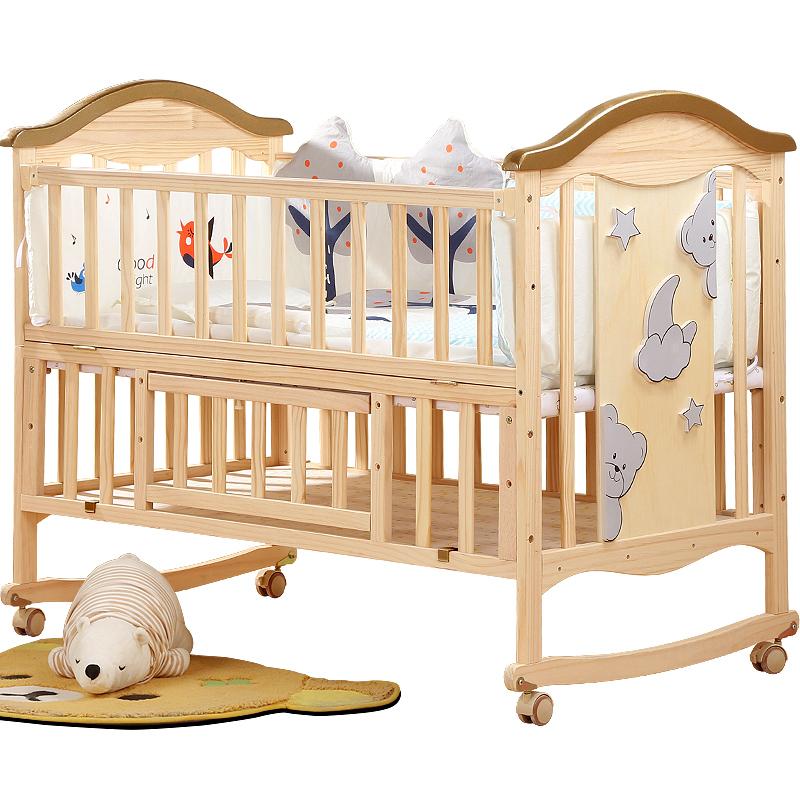 Διεύρυνση βρεφικό κρεβάτι πρωτοετείς απλό ξύλο πριγκίπισσα ημερολόγιο εσωτερική ασφάλεια ξύλο πτυσσόμενο διπλή πίεση γύρω από τα παιδιά