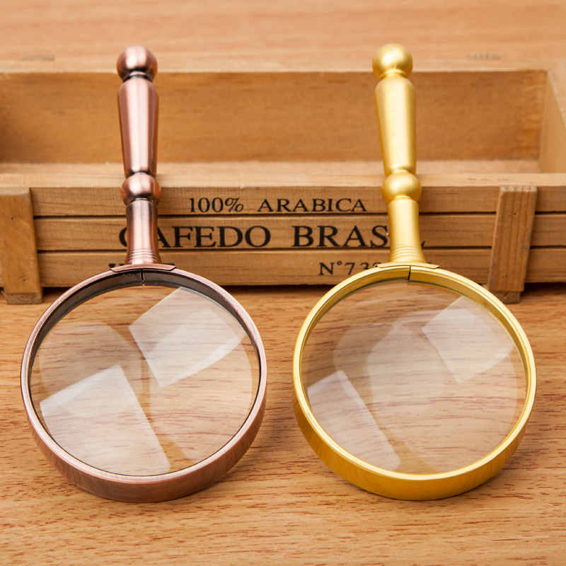 High times handheld magnifier 20 times full metal old man reading and reading high definition optical glass lens
