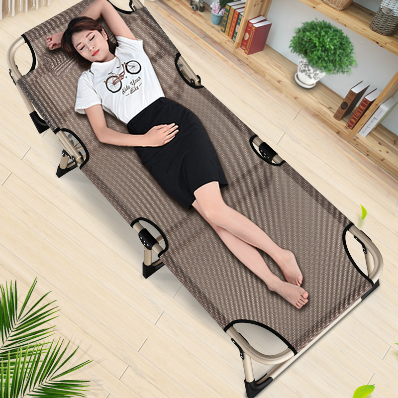 2017 office chair nap cot simple nap bed single bed tessforest permeable contact folding bed