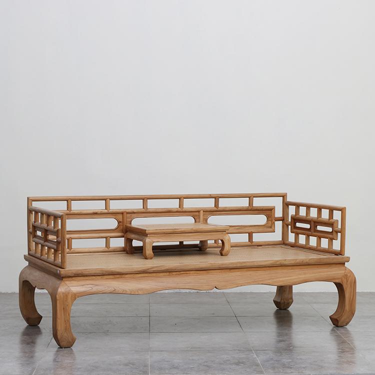 老楡材の新中国現代羅漢ベッド材のソファーベッドリビング寝込んだ貴妃シンプル禪の教えにも少なからず家具
