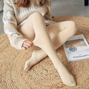 打底裤女春秋中厚丝袜肉色踩脚连裤袜加绒加厚ins美腿潮袜冬外穿