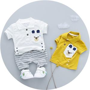 童装婴幼儿纯棉短袖短裤套装宝宝全棉T恤1-2-3岁儿童男童套装44