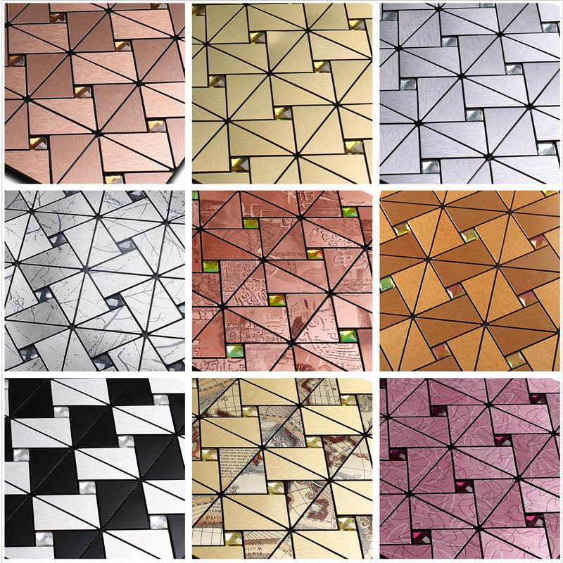 Integrated ceiling glass adhesive self-adhesive self-adhesive aluminum plate mosaic background wall Post Bar Taiwan living room decoration materials