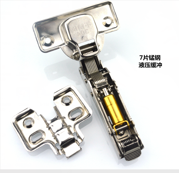 Electric cabinet cabinet door hinge aluminum industry and plastic black and white page, folding hinge bending mute