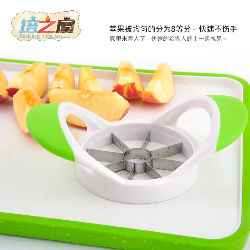 Geschnittene äpfel früchte Cutter Stück splitter Schneiden von Obst - Schneiden die Edelstahl - tools