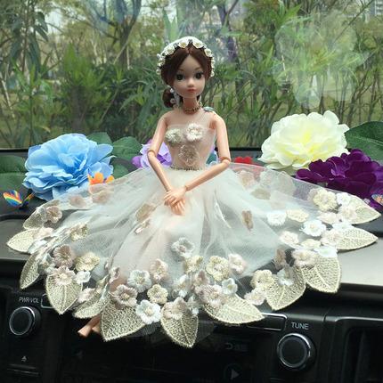 汽车内饰品摆件车载创意可爱公主婚纱芭比娃娃车上装饰用品高档女