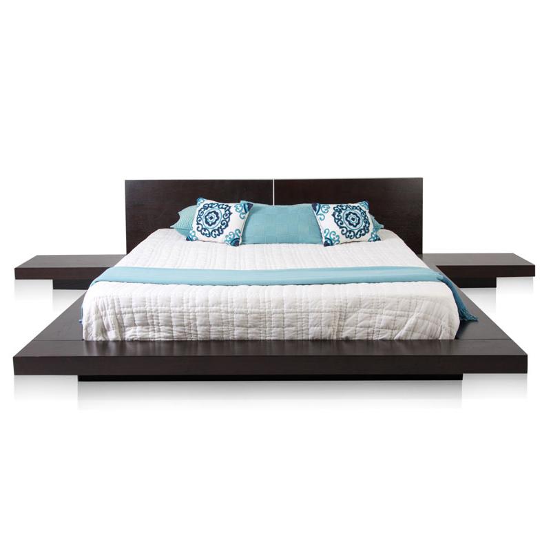 Reed staples double bed, Nordic bed, solid wood veneer bed, simple modern wedding bed plate bed 1.51.8 meters