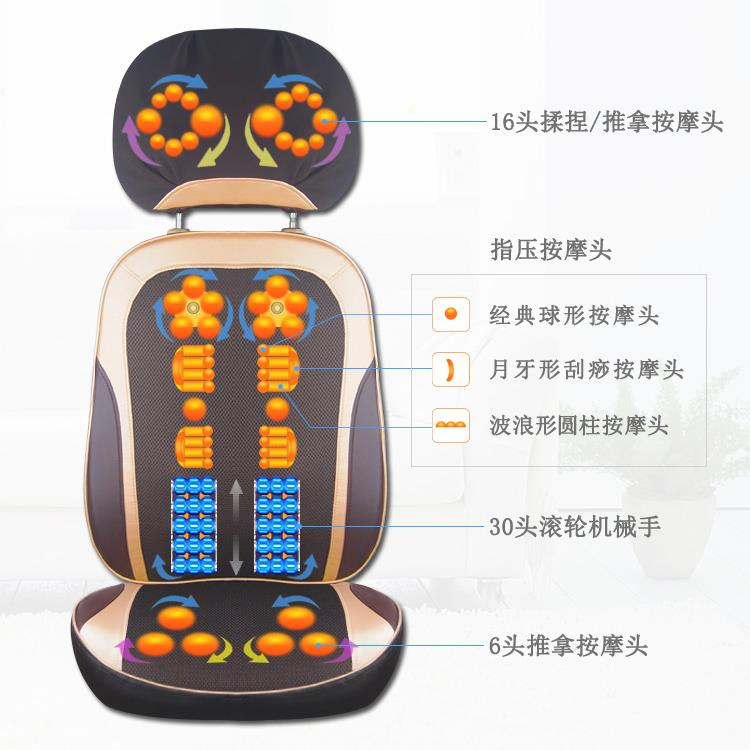 Electric cervical vertebra massager instrument neck shoulder and back cushion body waist household multifunctional cushion cushion machine