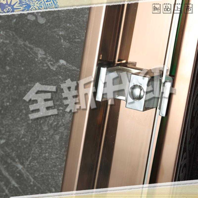 Small fresh screen the whole bath room gold custom shower room dry area of stainless steel tempered glass door