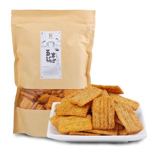 花小生玉米锅巴安徽特产零食小包装香麻辣味网红休闲零食锅巴
