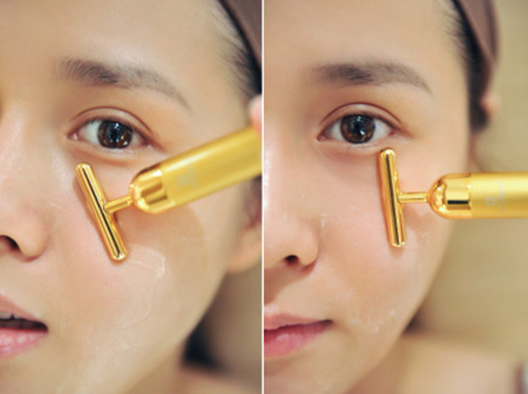 Facelifting und artefakt V gesichts - Massage - Gerät elektrische straffende 24 Karat Gold schönheit 3D - - beauty - Instrument