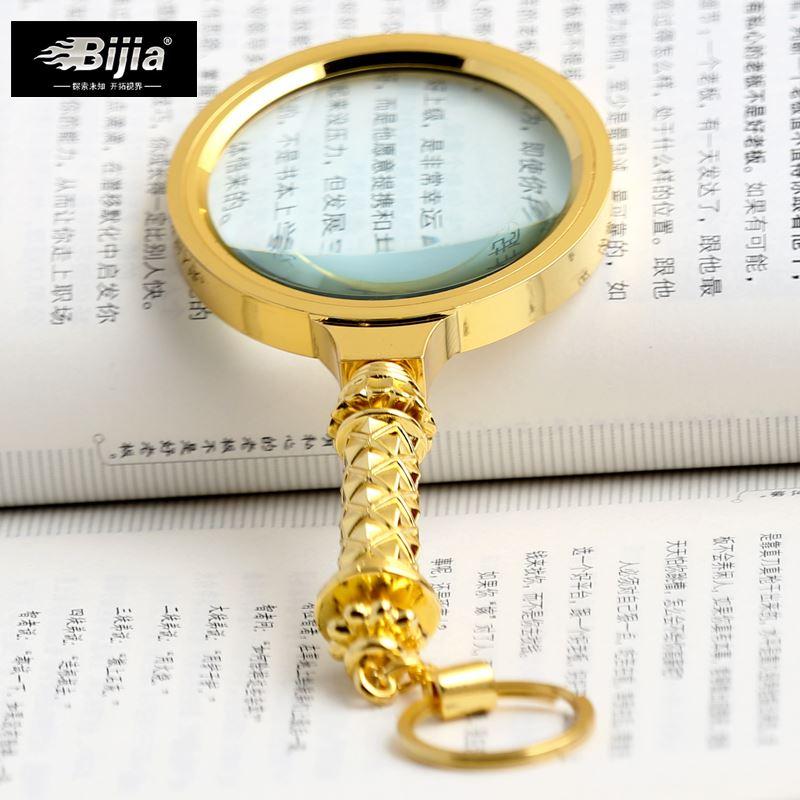 IJIA espejo portátil de 10 aumentos de los ancianos la lectura de grandes lentes de vidrio óptico de alta definición de 70 mm