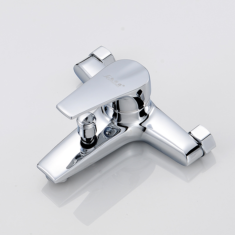 Copper concealed shower faucet switch double shower shower bath mixing valve controlled double tap