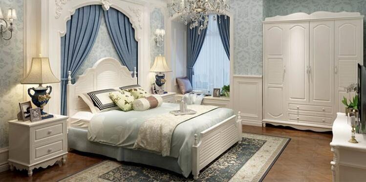 Die amerikanische country - moderne, minimalistische mode - Europäische 1,8 Meter Holz Bett schlafzimmer doppelbett prinzessin pastorale Hohe Kiste.