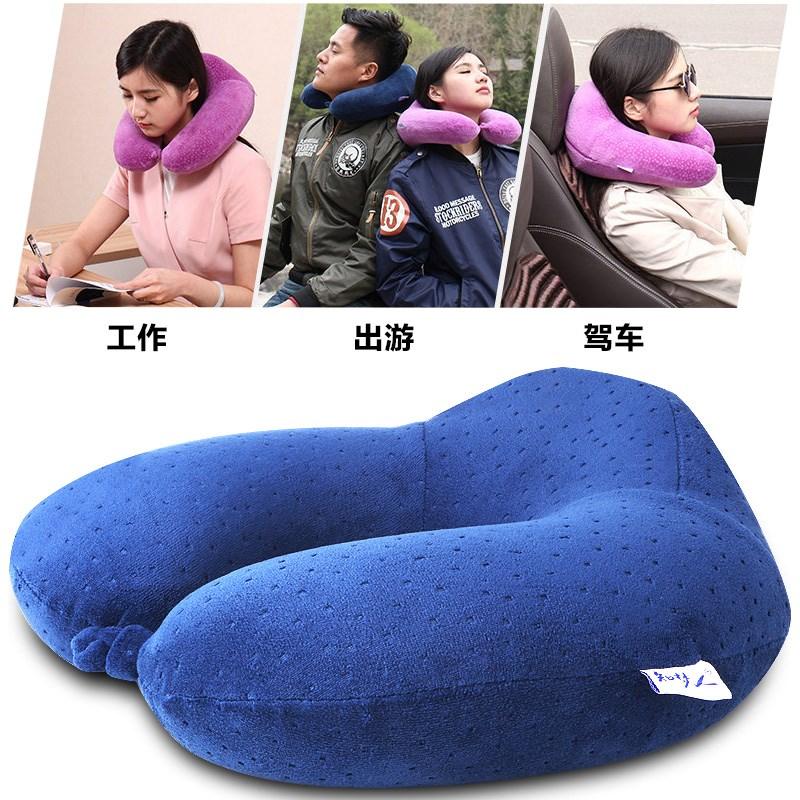 U型枕旅行記憶綿頸椎枕として、折りたたみ式で収納可能にしている。
