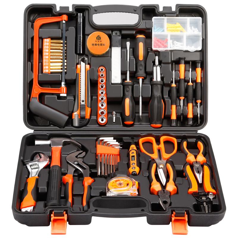 La cassetta degli attrezzi di strumenti di Legno rivestiti di manutenzione Hardware domestici Insieme completo multifunzionale, accusato di esercitazione