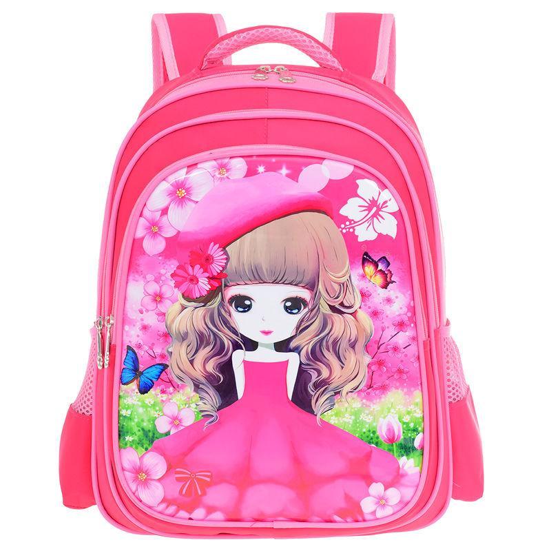 小学生书包女1-3-6年级儿童书包女童女生女孩韩版减负双肩背包