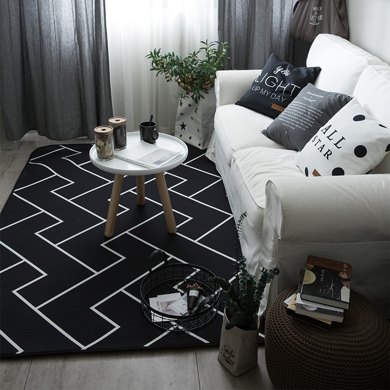 The bedroom carpet mat covered with thickened hair customized tatami bed blankets furry living room coffee table