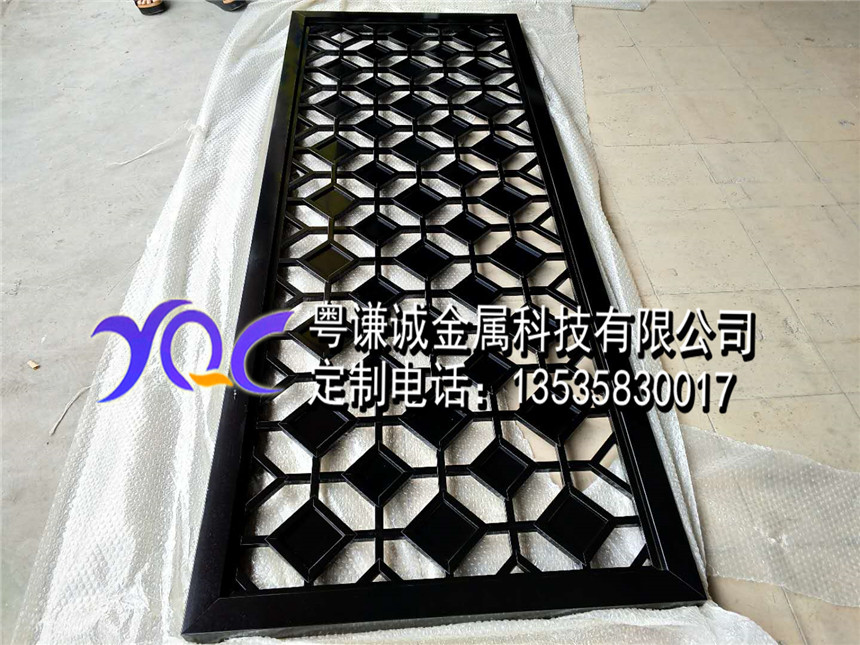 Custom stainless steel screen through lattice metal carved hollow European style entrance of modern Chinese living custom